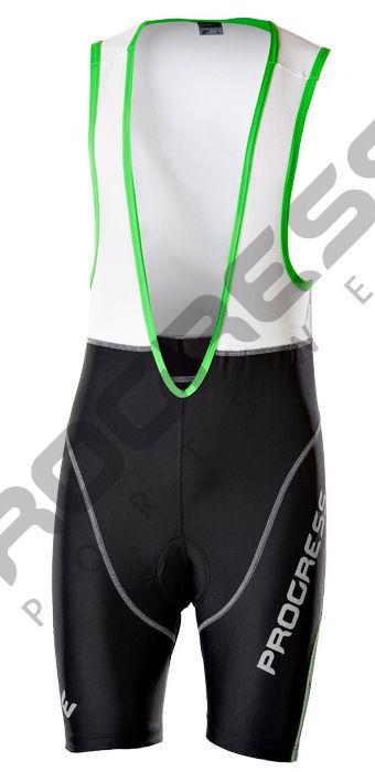 Pánské cyklistické kalhoty se síťovanými kšandami a vložkou