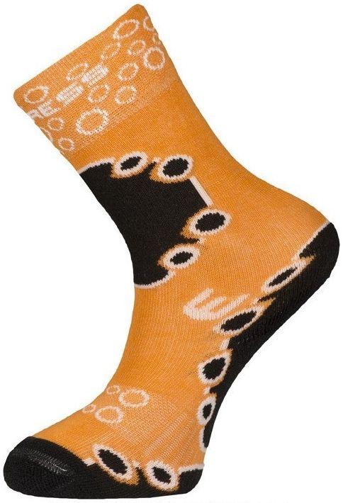 Dìtské teplé funkèní ponožky Progress KIDS SOX oranžové