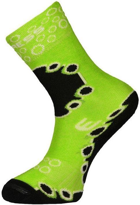 Dìtské teplé funkèní ponožky Progress KIDS SOX zelené
